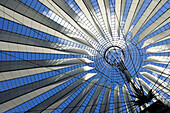 Glass roof above the Sony Center, Potsdamer Platz, Berlin, Germany, Europe