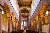 Interior view of abbey church, Alpirsbach abbey, former Benedictine monastery, Alpirsbach, Baden-Württemberg, Germany, Europe