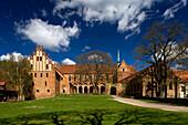 Chorin monastery under clouded sky, cistercian monastery, Chorin, Uckermark, Brandenburg, Germany, Europe