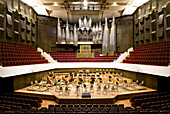 The Große Saal in the new Gewandhaus in Leipzig, Saxony, Germany, Europe
