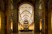 Central aisle at the monastery church in Königslutter, Lower Saxony, Germany, Europe