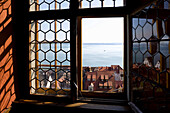 View from poetess Annette von Droste-Hülshoffs study at Castle Meersburg upon Lake Constance, Meersburg, Lake Constance, Baden-Württemberg, Germany, Europe