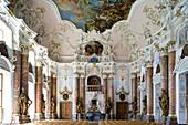 Kaisersaal, Ottobeuren Abbey, Ottobeuren, Bavaria, Germany, Europe