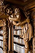 Library in the monastery of Waldsassen, Upper Palatinate, Bavaria, Germany