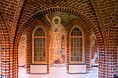 Cloister at Wienhausen Convent, former Cistercian nunnery is today an evangelical abbey, Wienhausen, Lower Saxony, Germany, Europe