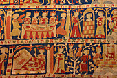 Tapestry at Wienhausen Convent, former Cistercian nunnery is today an evangelical abbey, Wienhausen, Lower Saxony, Germany, Europe