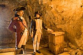 The Great Siege Tunnels ROCK OF GIBRALTAR GIBRALTAR Waxwork British soldiers General Eliot and Captain Curtis