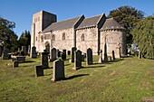 Dalmeny Kirk DALMENY LOTHIAN Romanesque Norman church cemetery gravestones
