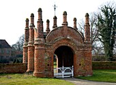 Built circa 1549 an unusual Tudor gatehouse Erwarton Hall, Suffolk