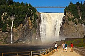 Visitors at the Montmorency Falls, Beauport, Quebec City, Canada