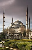 Blue Mosque or Sultan Ahmed Mosque Turkish: Sultanahmet Camii Exterior view Istambul, Turkey