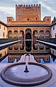 Courtyard of ArrayanesCourt of the Myrtles Comares Palace Nazaries palaces Alhambra, Granada Andalusia, Spain