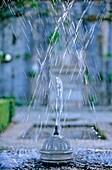 El Generalife Generalife gardens Fountain Alhambra Granada Andalucia Spain
