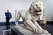 Museum Island Pergamonmuseum Lion from Athenas 320 BC Berlin Germany