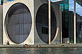 Marie-Elisabeth Lüders building, by Stephan Braunfels Albergala library and the scientific services of the German Bundestag Berlin Germany
