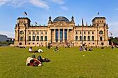 Reichstag from Tiergarten Berlin Germany