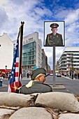Checkpoint Charlie false soldier Berlin Germany