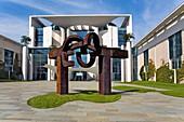 Bundeskanzieramt, and sculpture of Eduardo chillida Berlin Germany
