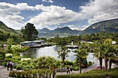 The gardens of Schloss Trauttmansdorff they are considered to be among the finest gardens or botanical gardens in Italy and europe They are one of the top tourist attractions around Merano and South Tyrol Europe, Central Europe, Eastern Alps, South Tyr