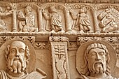 Bas-reliefs on portal of the Saint Trophimus cathedral 1170-1180, Arles, Provence, France