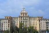 Stalin era buildings, view from Moskva river, Moscow, Russia