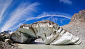Glacial ice, Concordia, Great Aletsch Glacier, Canton of Valais, Switzerland