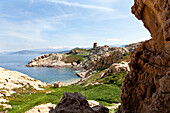 Genoese tower, L Ile-Rousse, Corsica, France