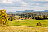 Scenery, Zittauer Mountain Range, Lueckendorf, Oybin, Saxony, Germany