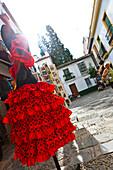 Flamenco dress on sale, Seville, Spain