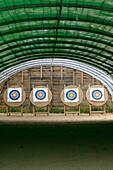 Archery targets on an archery range