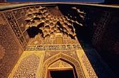 Muqarnas at the entrance of Jameh Mosque, Esfahan, Iran