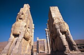 The Xerxes Gate, aka Gate of All Nations at Persepolis archeology site, Iran