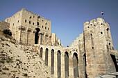 Entrance to the citadel of Aleppo, Syria