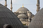 Sultan Ahmed Mosque, aka Blue mosque, in the wintertime, Istanbul, Turkey