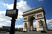 Arc De Triomphe in Place Charles de Gaulle, Paris, France