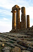 The Temple of Hera Lacinia in the ancient Greek Valley of Temples at Agrigento, Sicily, Italy