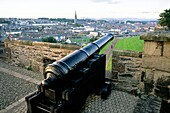 Derry, Ireland Cannon known as Roaring Meg used against siege of 1689 The Double Bastion on City Walls overlooking the Bogside