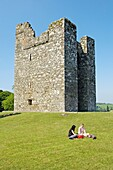 The Audleys Castle tower house on shore of Strangford Lough, County Down, dates from around 1550 Northern Ireland