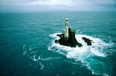 The Fastnet Rock Light Lighthouse off the Atlantic coast of County Cork, south west Ireland