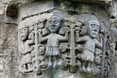 Boyle Abbey, County Roscommon, Ireland Founded by Cistercians in 1161 Stone carving detail on pillar capital