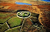 Inishmurray island, County Sligo, Ireland Early Celtic Christian ring fort cashel monastic settlement and fisherman's cottage