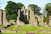 Inch Abbey near Downpatrick, County Down, Northern Ireland Norman Cistercian abbey founded 1180 by John de Courcy