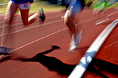 Track running - blurred action, Running, Leisure & Activities