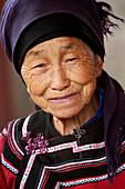 Portrait of Hani woman, Yuanyang, China