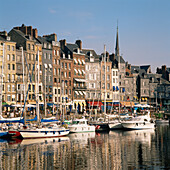 Harbour and Saint Catherines Quay, Honfleur, Normandy, France