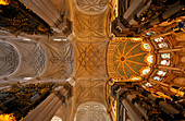 Rich ornament, ceiling of cathedral, Granada, Alhambra, Andalusia, Spain, Mediterranean Countries