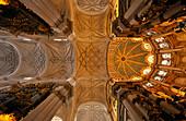 Reiche Verzierung, Decke einer Kathedrale, Granada, Alhambra, Andalusien, Spanien, Mediterrane Länder