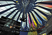 Pavilion roof above central forum, Sony Center, Potsdamer Platz, Berlin, Germany