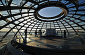 Inside the dome, Reichstag building, Berlin, Germany