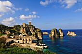 Coastal scenery, Scopello, Castellammare del Golfo, Sicily, Italy